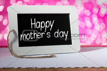 blackboard mother day pink