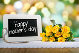 slate blackboard mothers day and roses