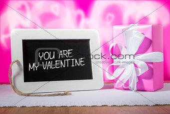 slate blackboard valentine