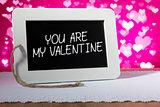 blackboard valentine pink