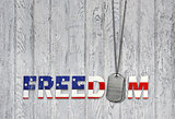 freedom military dog tags