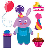 Set of Birthday vector