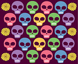 skulls colored