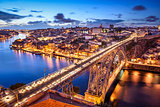 Porto, Portugal at Dom Luis Bridge
