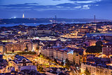 Lisbon, Portugal Skyline at Night
