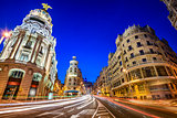 Madrid, Spain Gran Via Cityscape