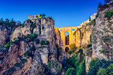 Ronda, Spain at Puento Nuevo Bridge
