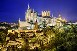 Segovia, Spain Alcazar at Night
