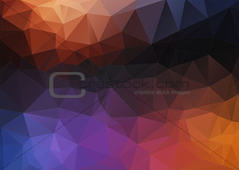Flat Style colorful mosaic abstract 2D background