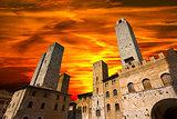 San Gimignano at Sunset - Italy