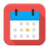 Calendar app icon with long shadow