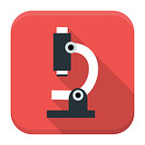 Microscope app icon with long shadow