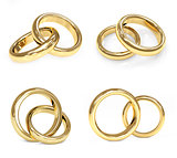 Set of gold wedding ring