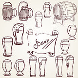 set sketches of beer