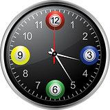 Bingo balls clock