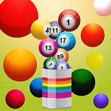 Bingo balls from paint tin