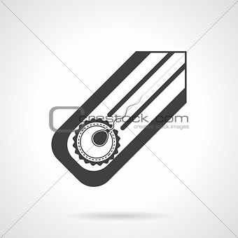 Artifical insemination black vector icon