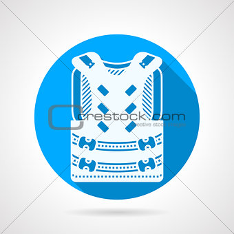 Paintball vest round vector icon