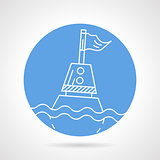 Sea buoy round vector icon
