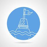 Sea buoy round vector icon