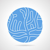 Sea coral round vector icon