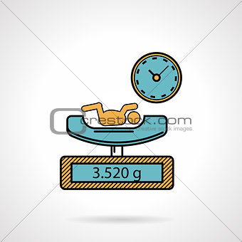 Flat color vector icon for newborn