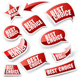 Choice stickers set.