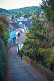 Town Monschau in North Rhine - Westphalia. Eastern Germany