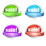 various discount tags
