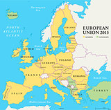 European Union Countries Political Map