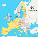 Eurozone Countries Map