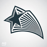 Vector detailed luxury 3d symbol. Monarch emblem, celebrative stars. Stylized icon, award concept graphic design element. EPS8