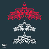 Vector eps8union symbol. Festive design element with stars, deco
