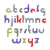 Vector acrylic alphabet letters set, hand-drawn colorful script,