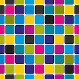 Mosaic seamless pattern, simple geometric vector background. EPS8