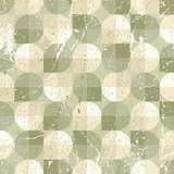 Seamless retro pattern, vector tiles background with messy grung