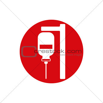 Blood transfusion vector icon isolated.