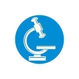 Microscope vector icon isolated.