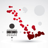 Splattered web design element, art ink blob, bright paintbrush d