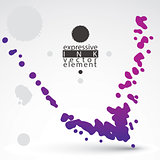 Modern bright vector inky wallpaper, eps8 blob painted with brus