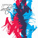 Colorful watercolor graffiti splash overlay elements, expressive