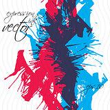 Colorful watercolor graffiti splash overlay elements, expressive