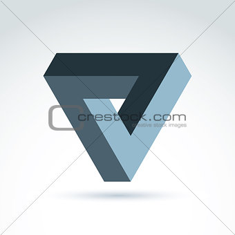 Abstract 3D symbol, vector graphic design element, icon.
