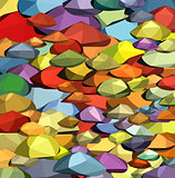 stone rock polygonal abstract shape in multiple color