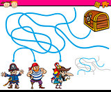 paths or maze cartoon game