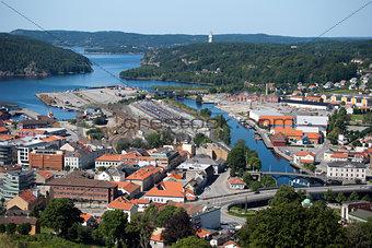 Aerial Fredriksten view, Norway