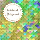 Textured Background of Round Patches