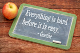 Goethe quote on life and learning