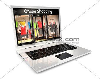 3d online shopping concept