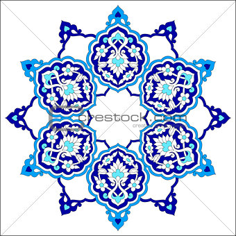 artistic ottoman pattern series seventy eight